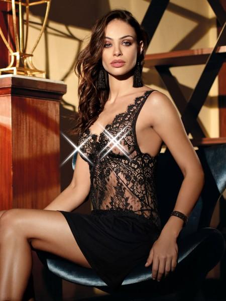 COEMI Angelina: Negligé, schwarz