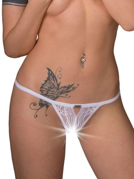 Eros Veneziani White Angel: Ouvert-String, weiß
