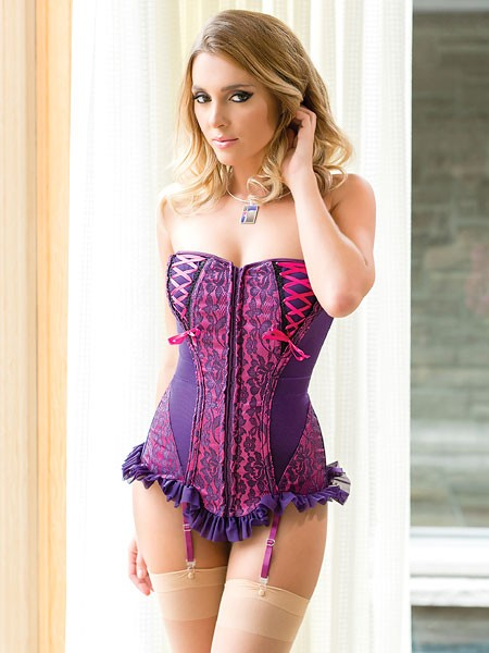Coquette Strapscorsage: Color Me Pretty, purple/fuchsia