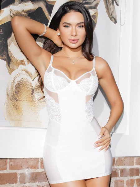 Coquette Chemise: Honeymoon, weiß