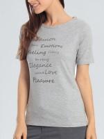 Sassa Melange Mix & Match: T-Shirt, grau