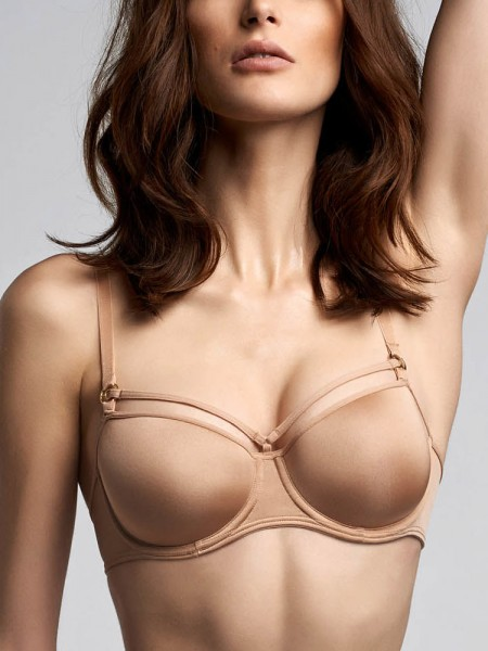 Marlies Dekkers Space Odyssey: Padded Balcony BH, glossy camel