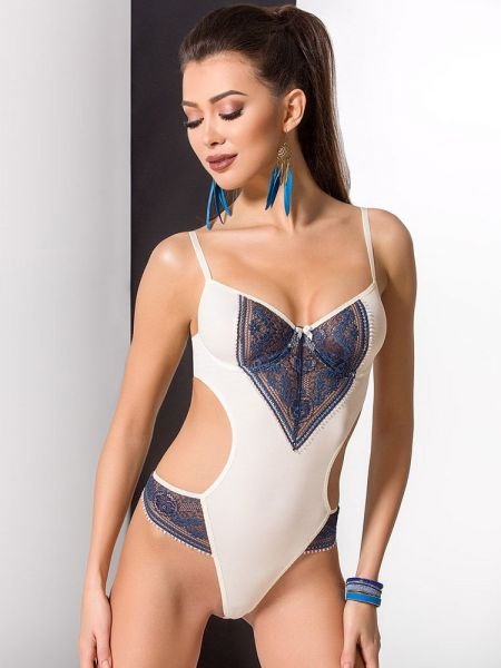Passion Ivone: Body, ecru/blau