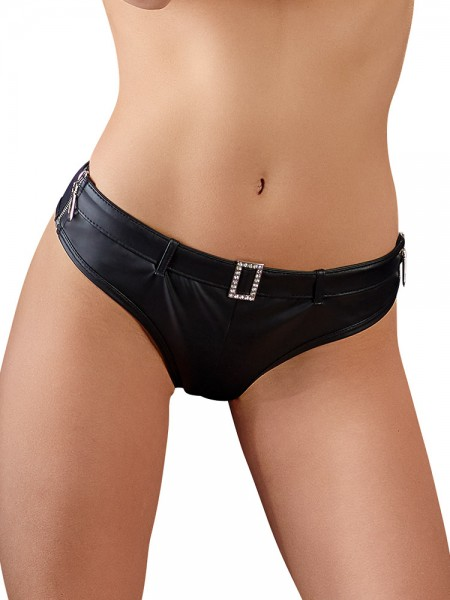 Panty mit Strass, schwarz