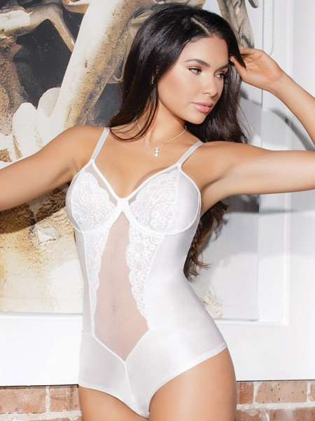Coquette Body: Honeymoon, weiß