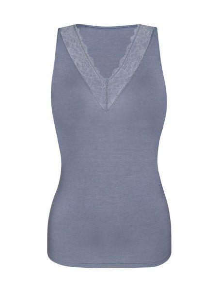 Sassa Bamboo & Lace: Top, dusty grey