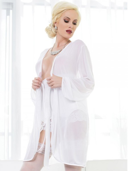 Coquette Netz-Kimono: Blushing Bridal, weiß