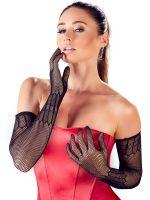 Netz-Handschuhe, schwarz