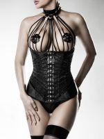 Grey Velvet 14493: Unterbrust-Corsage, schwarz
