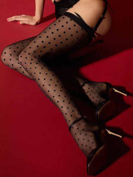 Fiore Louise: Strapsstrümpfe, schwarz