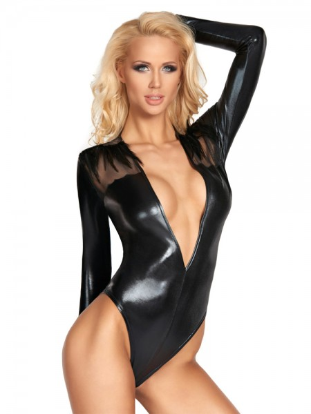 7-Heaven Wetlook-Body: Rioja, schwarz