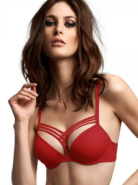 Marlies Dekkers Dame de Paris: Padded Push-Up BH, rot