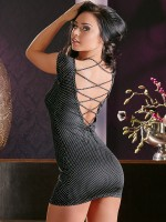 Paillettenkleid, schwarz
