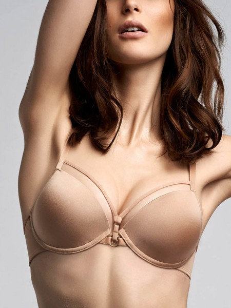 Marlies Dekkers Space Odyssey: Padded Push-Up BH, glossy camel