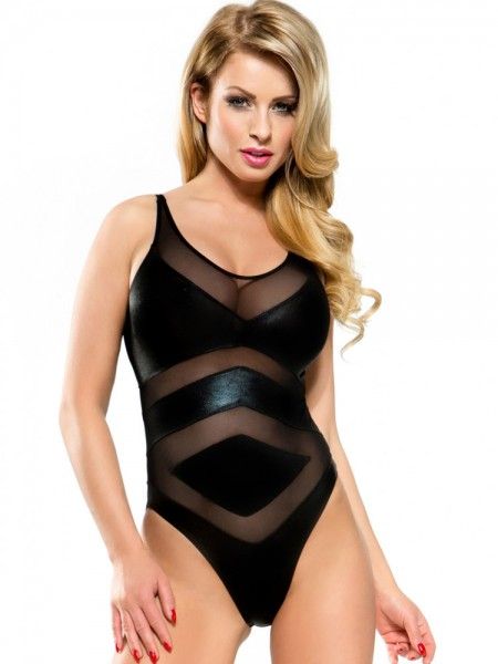 Demoniq Wetlook-Body: Charlotte, schwarz
