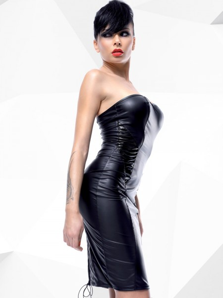 Demoniq Hard Candy Minikleid: Ellen, schwarz