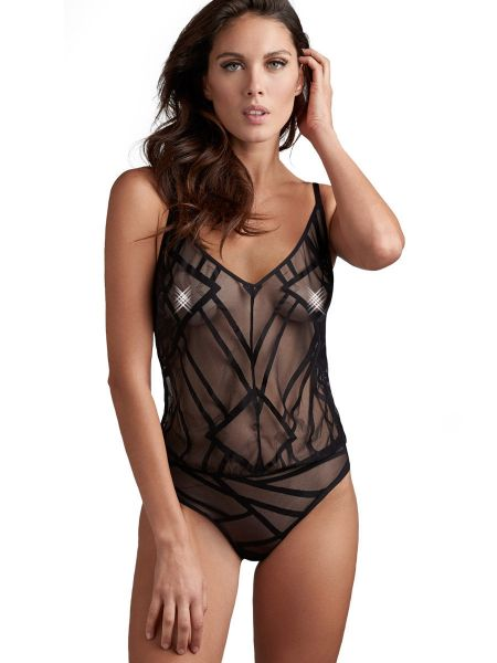 Marlies Dekkers The Illusionist: Body, transparent schwarz