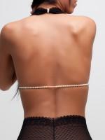 Bracli&G: Perlen-BH, schwarz