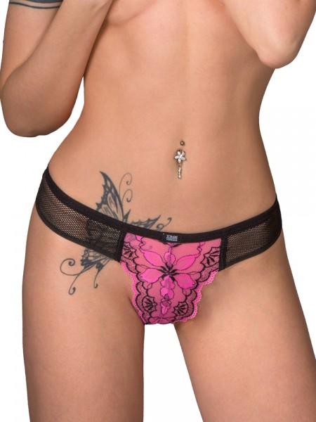 Eros Veneziani Flash: Brazilslip, pink/schwarz