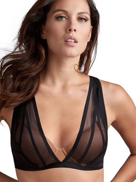 Marlies Dekkers The Illusionist: Padded Plunge Bra, transparent schwarz