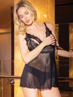 Coquette Ouvert-Babydoll: Let's Play, schwarz