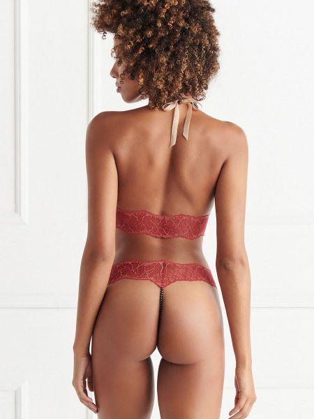 Bracli Sydney Dark: Perlenstring 1-reihig, rot/schwarz