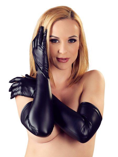 Mattlook-Handschuhe, schwarz