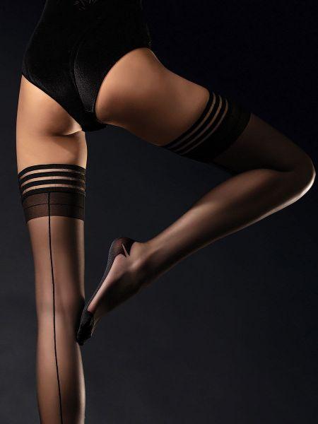Fiore Femme Fatale: Halterlose Strümpfe, schwarz