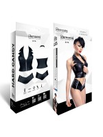 Demoniq Hard Candy Top-Set: Eva, schwarz