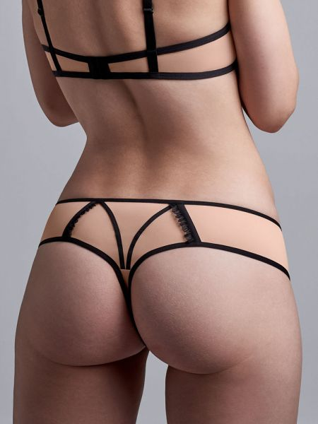 Marlies Dekkers Meringue: String, pale peach/schwarz