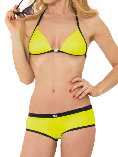 Eros Veneziani Elettra: Bikini mit Panty, neongelb/schwarz