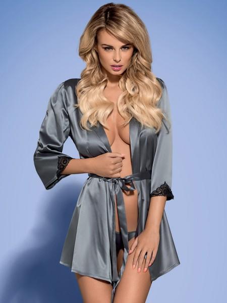 Obsessive Satinia: Kimono, grau