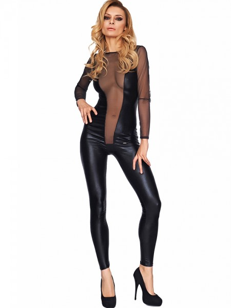 7-Heaven Wetlook-Catsuit: Molina, schwarz