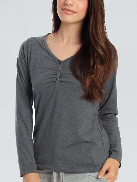 Sassa Melange Mix & Match: Lounge Shirt, graphit