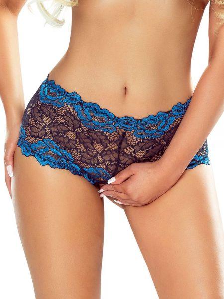 Provocative Nuit Saphir: Ouvert-Panty, schwarz/blau