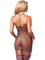 Straps-Minikleid, schwarz