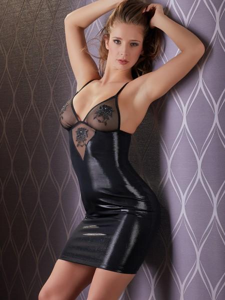 Minikleid mit Strass, schwarz