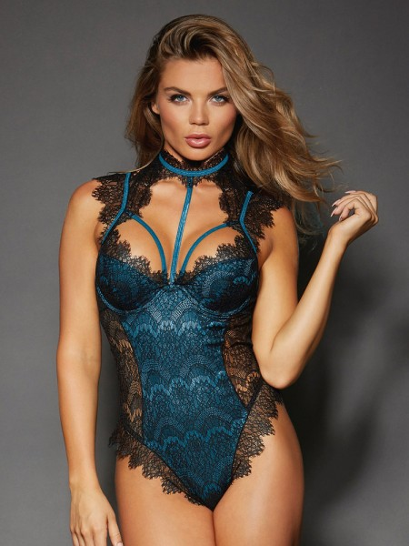 Dreamgirl Stringbody, schwarz/teal