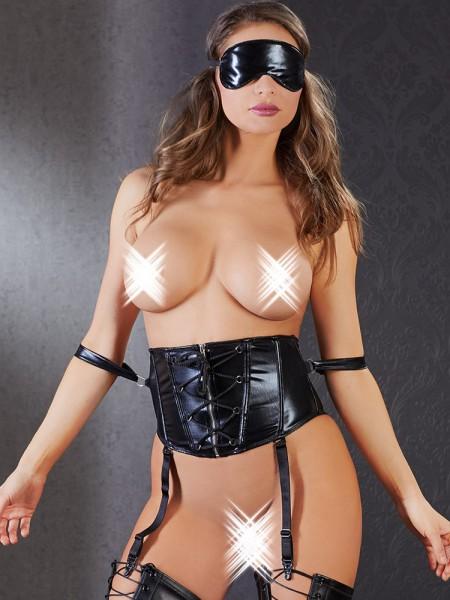 Bondage-Taillenmieder, schwarz