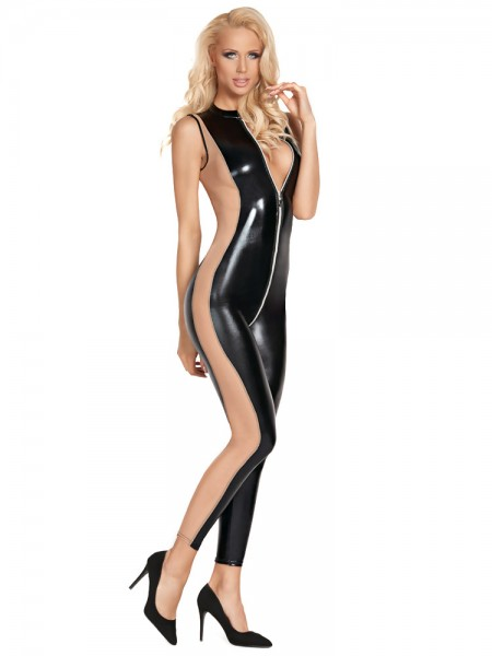 7-Heaven Wetlook-Catsuit: Cuzco, schwarz