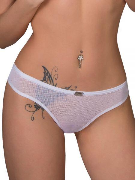 Eros Veneziani White Angel: Ouvert-Brazilslip, weiß