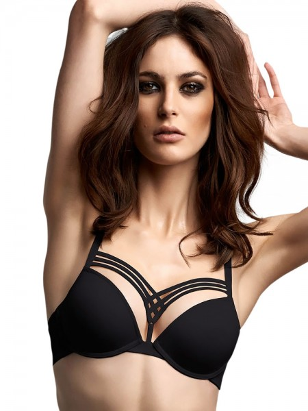 Marlies Dekkers Dame de Paris: Padded Push-Up BH, schwarz
