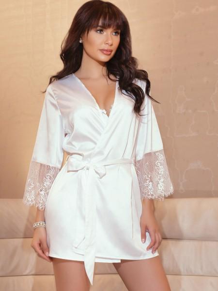 Coquette Kimono: Bridal White, weiß