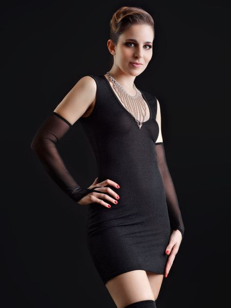 Patrice Catanzaro Galaxy: Minikleid, schwarz