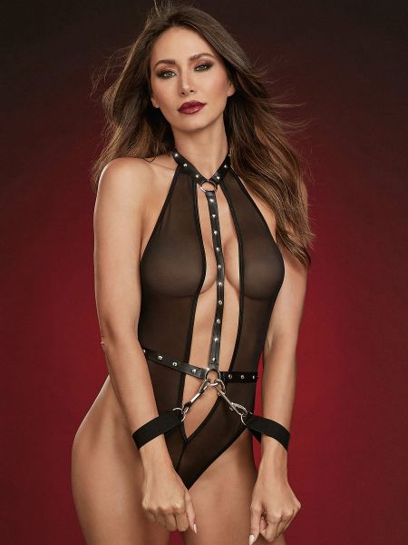 Dreamgirl Stringbody-Set, schwarz