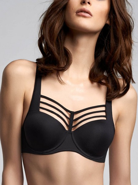 Marlies Dekkers Leading Strings: Padded Balcony BH, schwarz