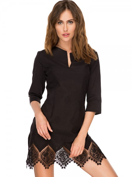 Anabel Arto: Minikleid, schwarz