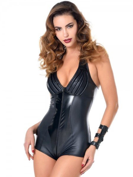 Patrice Catanzaro Ruby: Wetlook-Lack-Body, schwarz