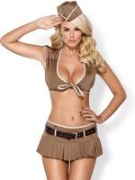 Obsessive 814: Soldaten-Kostüm, braun