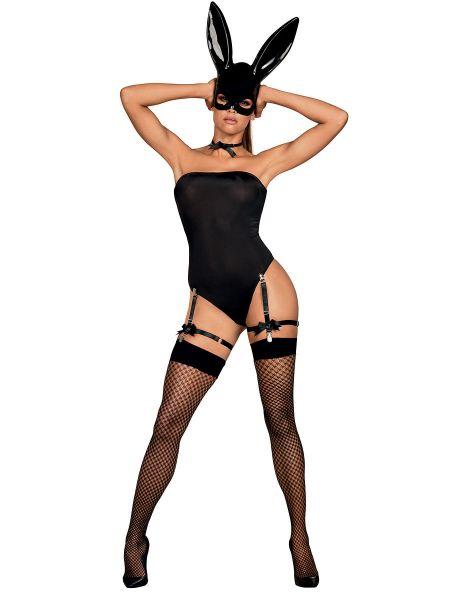 Obsessive Bunny-Kostüm, schwarz